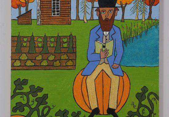 Thoreau Sitting on a Pumpkin
